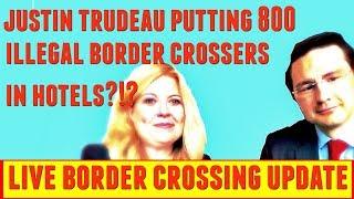 Justin Trudeau putting 800 illegal border crossers in hotels?!?