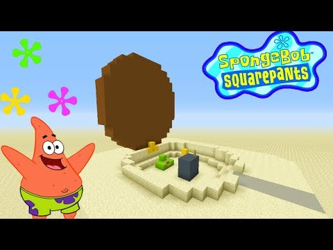 "Minecraft Tutorial: How To Make Patricks House (open) ""Spongebob Squarepants"""