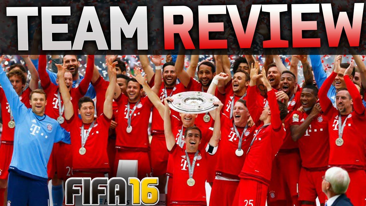 FIFA 16 BAYERN MUNICH TEAM REVIEW / BEST LINE-UP ...