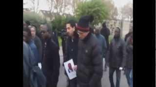 Taxi parisien assassiné, les funérailles / Funeral of a murdered Taxi of Paris