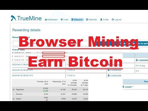 TrueMine Review - Best Browser Mining With Bitcoin Rewards