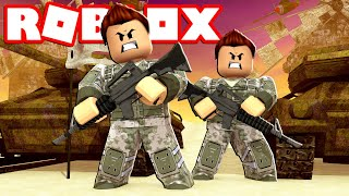 MILITARY BASE WITH ALL ROBLOX WEAPONS Cerso roblox in Spanish with Rovi23