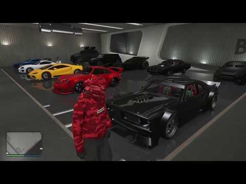 GTA 5 - (clean) 100+ car garage tour part 2