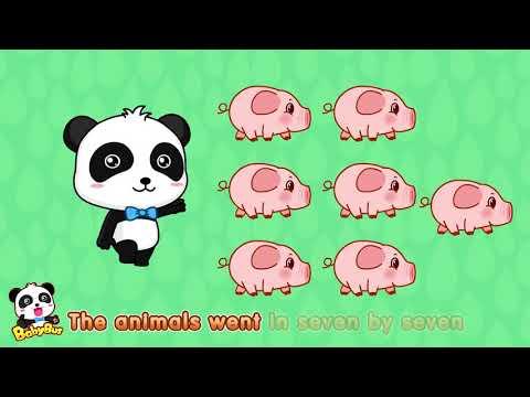 ♬The Animals Went In Two By Two | 動物が2匹ずつ行った | 動物のうた | 赤ちゃんが喜ぶ英語の歌 | 子供の歌 | 童謡  | アニメ | 動画 | BabyBu