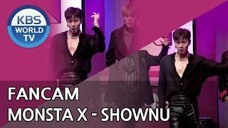 [FOCUSED]MONSTA X's SHOWNU - Shoot Out[Music Bank / 2018.10.26]