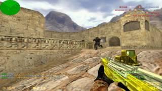 Играем в Counter Strike 1.6 на сервере Пушки+Лазеры+Новые Оружия [ЛЕТО]