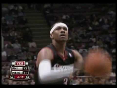 6e4b2b77384 Allen Iverson 37pts vs Jason Kidd Vince Carter NJ Nets 06 07 NBA ...