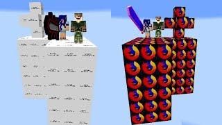 ILHA ERROR vs ILHA DE PROGRAMAS DE COMPUTADOR l ILHA LUCKY BLOCK MINECRAFT
