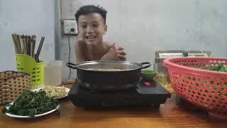 Nguyễn Đức Huynh : Làm Một Nồi Lẩu Tổng Hợp Ăn Mừng Kênh Đã Đạt 1K Sub