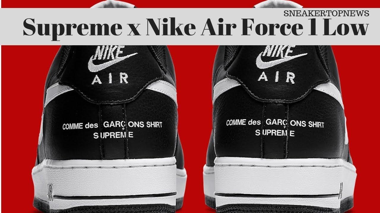 Supreme x Comme des Garçons SHIRT Nike Air Force 1 Low YouTube