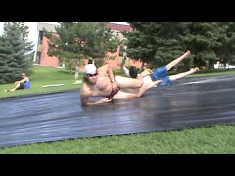 Carroll College Slip 'n Slide on Guad Hill