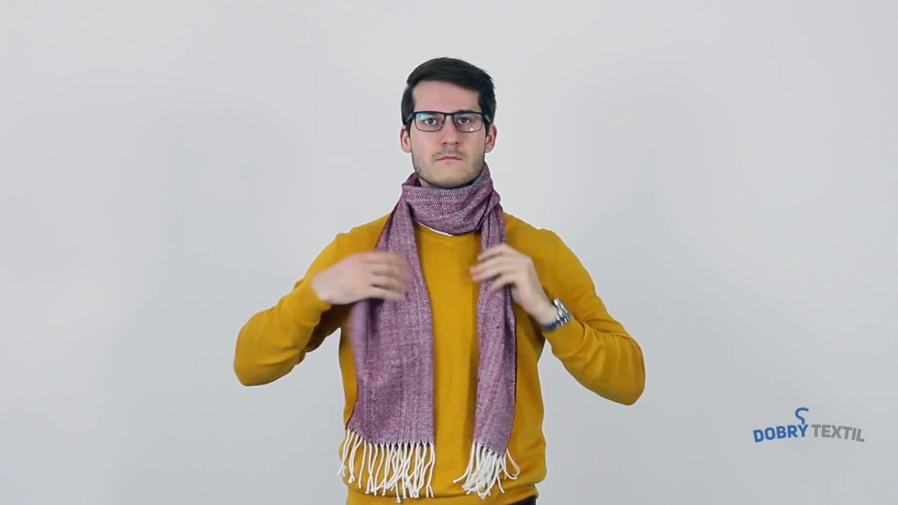 Jak nosit pánskou šálu – DobryTextil.cz - YouTube 273abc00e6