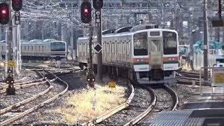 2020年12月15日 211系 A28編成 大宮工場入場 大宮駅にて