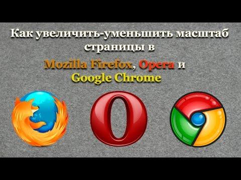 Как увеличить уменьшить масштаб страницы в Mozilla Firefox, Opera и Google Chrome