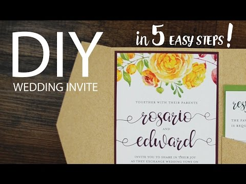 How to DIY a Pocket Wedding Invite in 5 Easy Steps