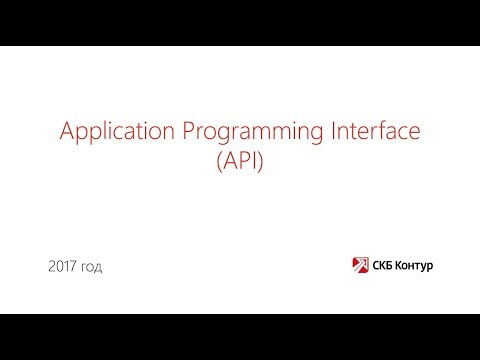 1. Application Programming Interface (API)