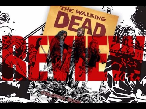 Review The Walking Dead Coloring Book Youtube