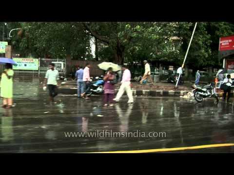 Delhi roads on a rainy day
