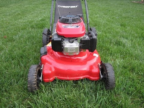 how to clean air filter on troy bilt lawn mower
