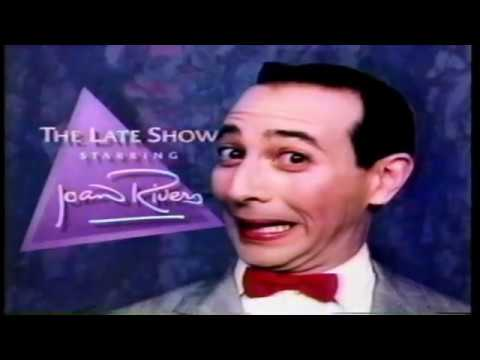 Pee-Wee Herman Guest Host on Joan Rivers The Late Show 1987
