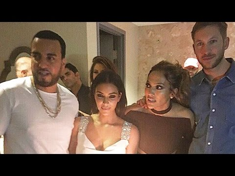 Calvin Harris Parties With Kim Kardashian & Lip Syncs To Kanye West