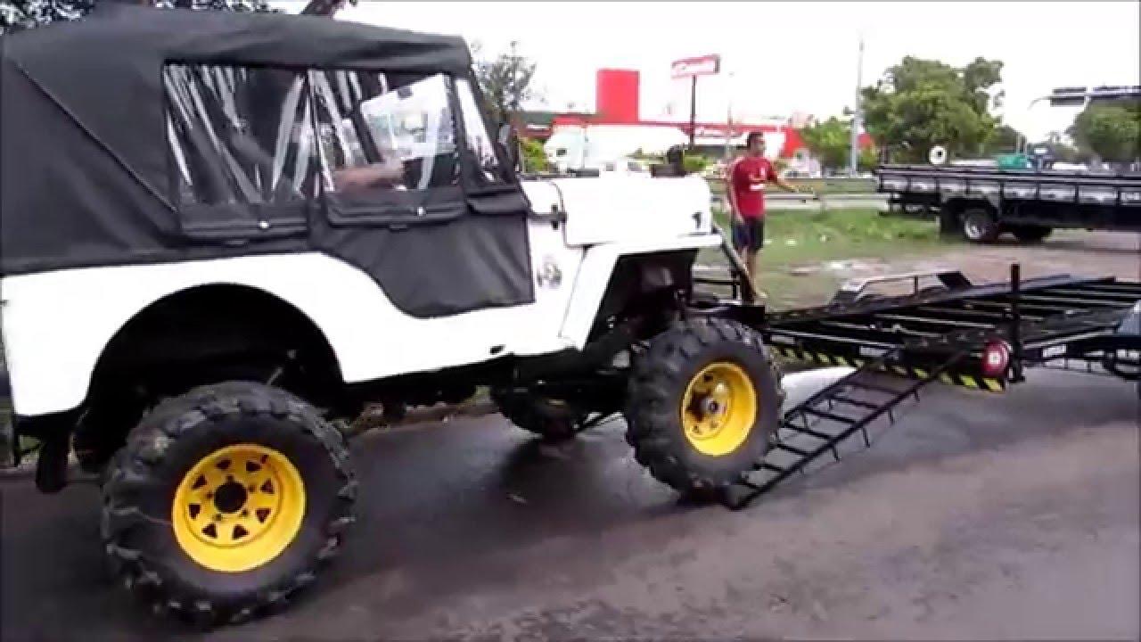 Reboque para transporte de carros jeep youtube - Carro de transporte ...