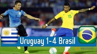 Uruguay 1-4 Brazil World Cup Qualification South America Hd