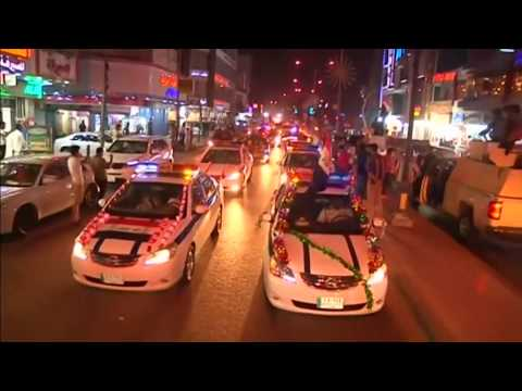 Basra residents celebrate defeat of Islamic State in Mosul