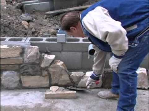 Building A Stone Wall Youtube