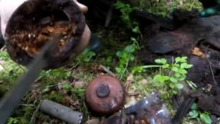 Коп по войне Мини каска и ганс рюкзак / Searching with Metal Detector