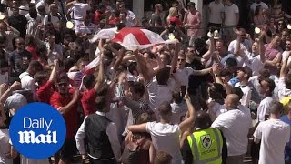 England 6-1 Panama: Fans celebrate and dance after national team win