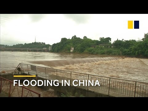 China: Yangtze River floods as first yellow alert of the year is issued