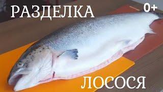 Разделка Рыбы   Лосося   На Филе и Уху 0+
