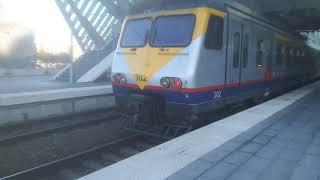 De niet-gerenoveerde MS80-treinstellen op S43-treinen in Luik-Guillemins.