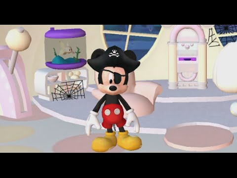 Mickey Mouse Color And Play Clup House Paint 3D Disney Junior Animated Coloring Book PART