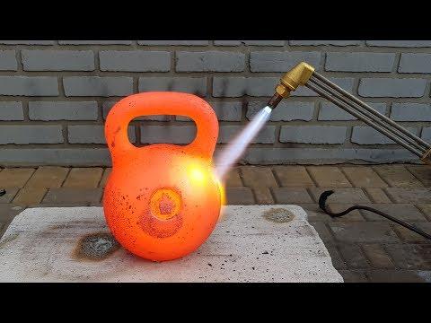 Experiment Gas Cutter vs Kettlebell