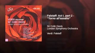 "Falstaff: Act I, part 2 - ""Torno all"