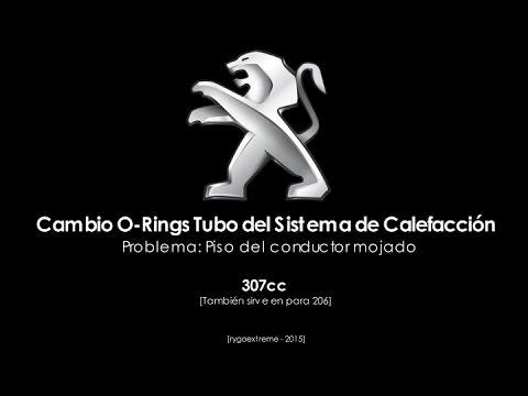 Peugeot 308, 307, 207, 206 PISO MOJADO: Cambio O-rings Tubo del Sistema de Calefacción