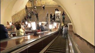 Шалуны в метро Москвы! Люди нарушают движение (август 2018)!