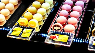 Sweet Japanese Ice Cream In Mochi Balls Of Japan