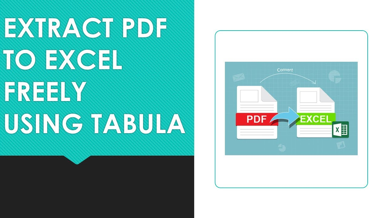 Extract Data from PDF to Excel Freely Using Tabula