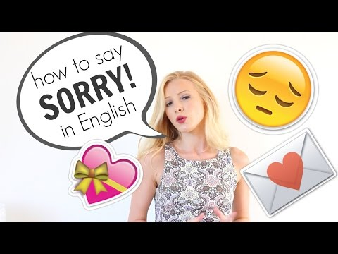 How to say SORRY and APOLOGISE  in English | British English #Spon