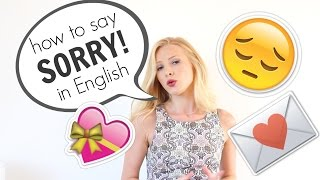 How to say SORRY and APOLOGISE  in English | British English*