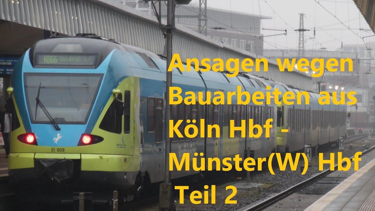 Bauarbeiten Köln Hbf