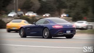 12x Mercedes AMG GT and GT S Departing Laguna Seca