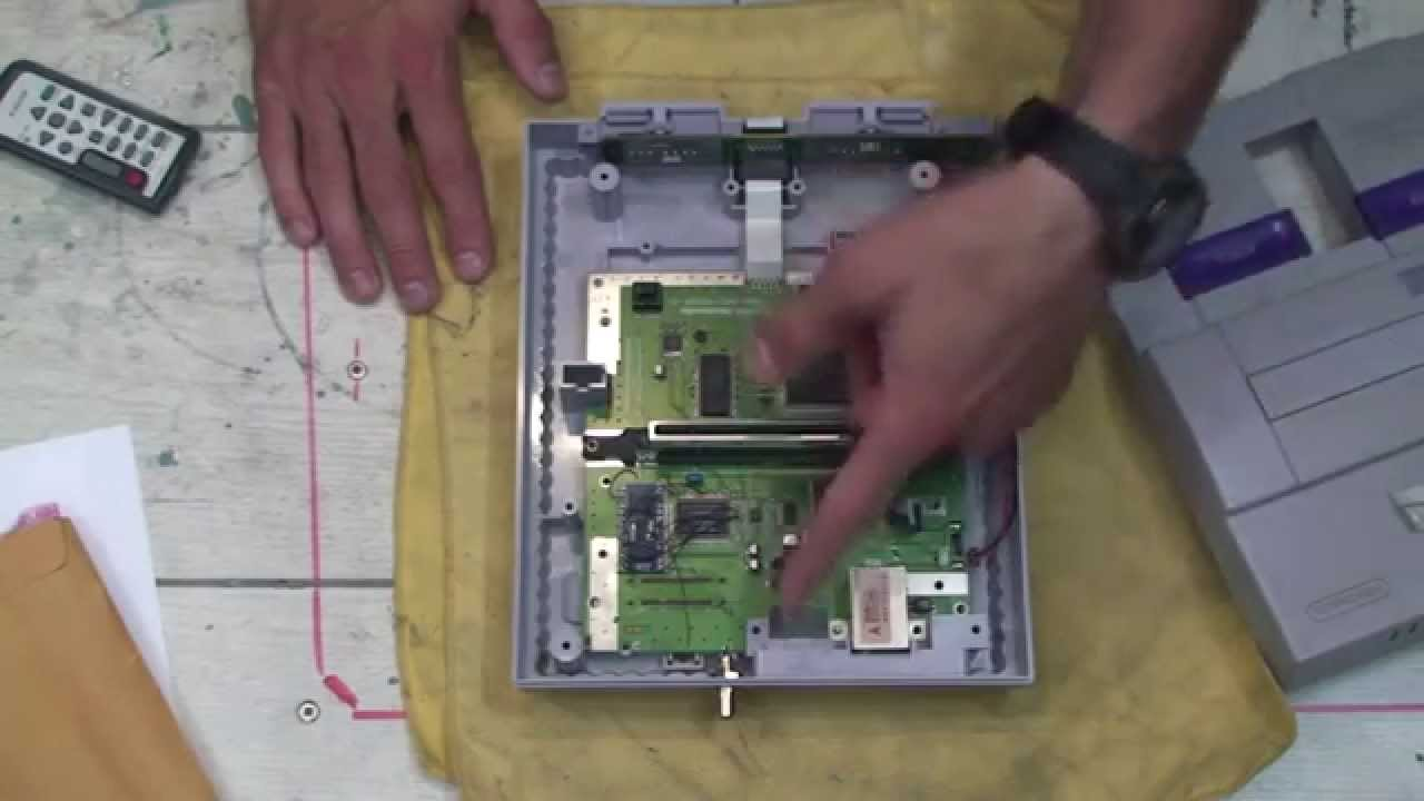 SNES 1CHIP capacitor replacement (french)