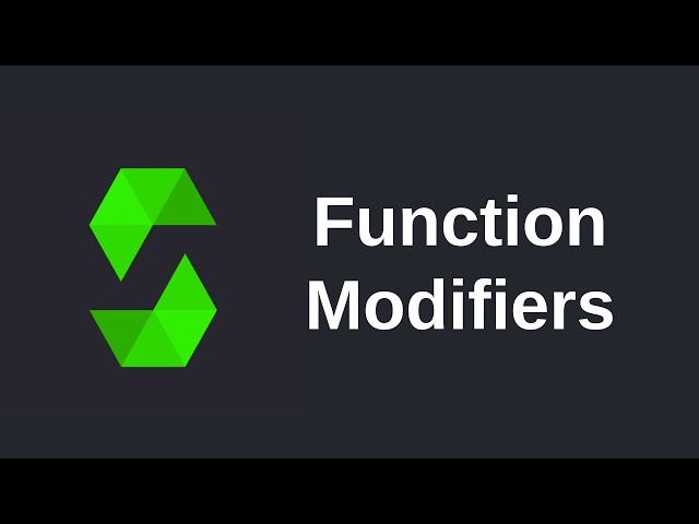 Learn Solidity (0.5) - Function Modifiers