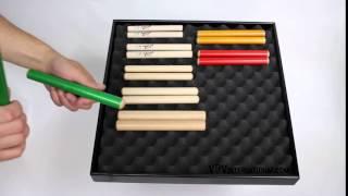 Claves Hêtre 20X2cm Vert - 1+ vidéo
