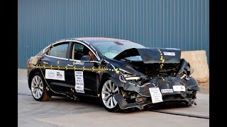 2018 Tesla Model 3 Crash Test 5-star rating safety!