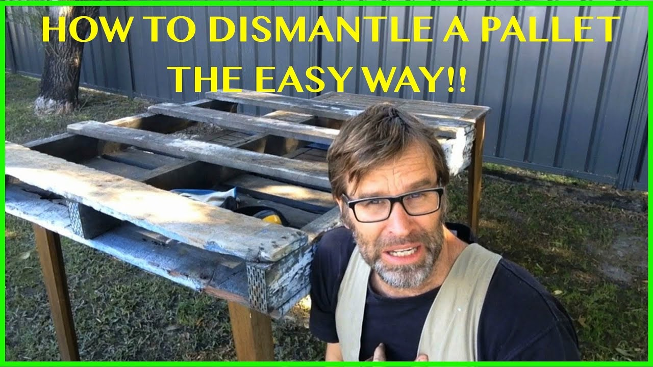 How to Dismantle a Pallet The